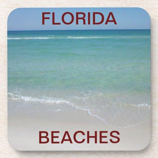 Florida Beaches Cork Coasters