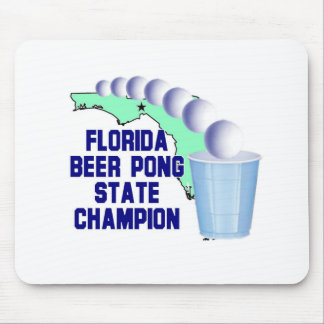 Florida Beer Pong Champion Mouse Pads