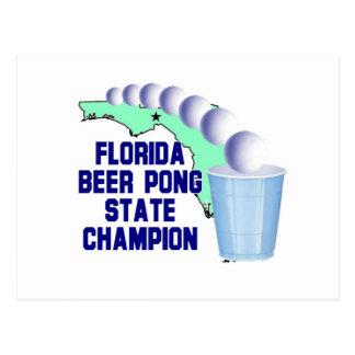 Florida Beer Pong Champion Postcard