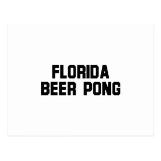 Florida Beer Pong Post Card