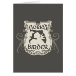 Greeting Card with Florida Birder design