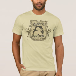 Men's Basic American Apparel T-Shirt with Florida Birder design