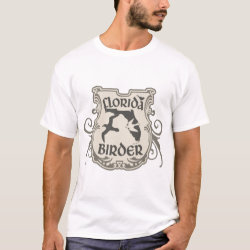 Men's Basic T-Shirt with Florida Birder design
