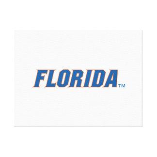 Florida - Blue & Orange Gallery Wrapped Canvas