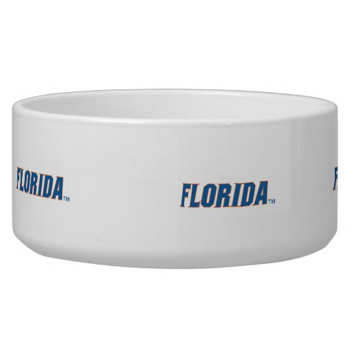 Florida - Blue & Orange Dog Food Bowls