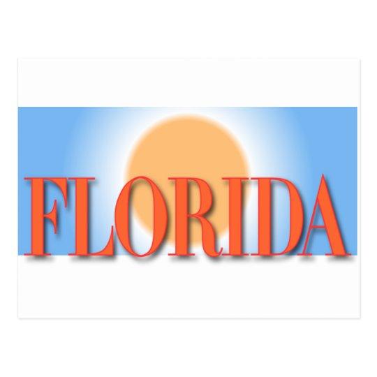 Florida Blue & Orange Sunset Postcard
