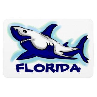 Florida blue shark theme rectangle magnet
