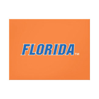Florida - Blue & White Gallery Wrapped Canvas