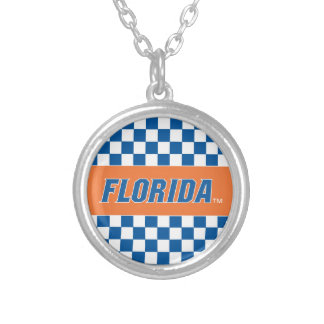 Florida - Blue & White Personalized Necklace