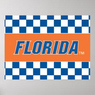 Florida - Blue & White Print