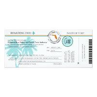 Florida Boarding Pass Wedding  Invitation (<em>$2.57</em>)