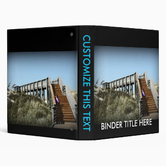 Florida boardwalk, Cape San Blas Gulf Coast 3 Ring Binder