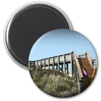 Florida boardwalk Cape San Blas Gulf Coast Magnet