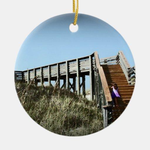 Florida boardwalk, Cape San Blas Gulf Coast Ornament