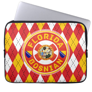 Florida Bosnian American Laptop Cover