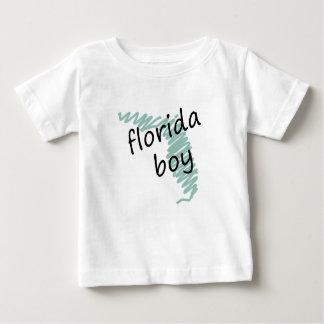 Florida Boy on Child's Florida Map Drawing Baby T-Shirt
