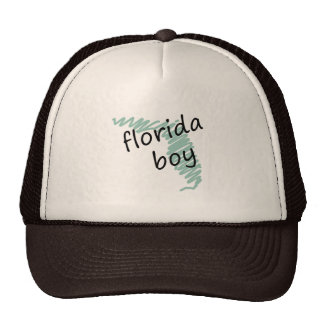 Florida Boy on s Florida Map Drawing Trucker Hat