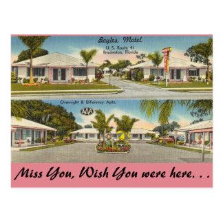 Florida, Bradenton, Boyles Motel Postcard