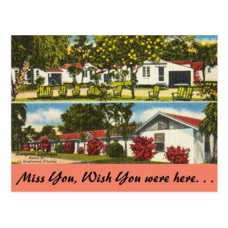 Florida, Bradenton, Burger's Cottages Postcard