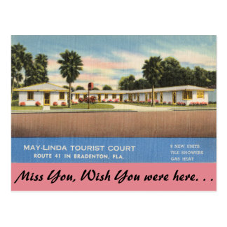 Florida, Bradenton, May-Linda Tourist Court Postcard