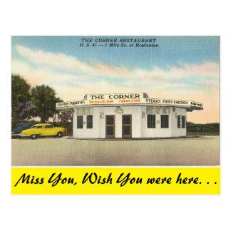 Florida, Bradenton, The Corner Restaurant Postcard