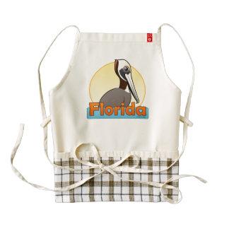 Florida Brown Pelican (sunrise) Zazzle HEART Apron