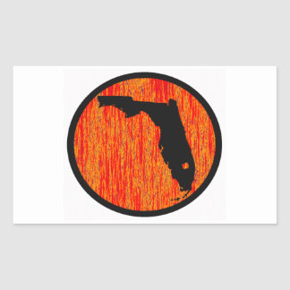 FLORIDA BY SUNSET RECTANGLE STICKER