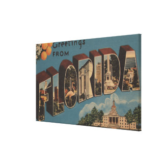 Florida Capital Building - Large Letter Stretched Canvas Print