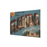 Florida (Capital Building) - Large Letter Canvas Print