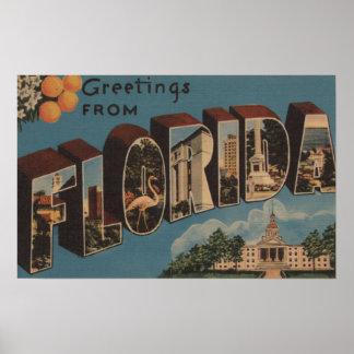 Florida Capital Building - Large Letter Print