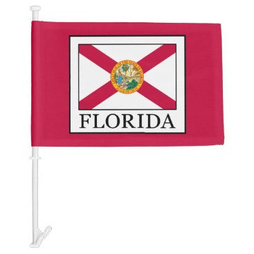 Beach Themed Florida Car Flag