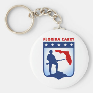 Florida Carry Gear Basic Round Button Keychain