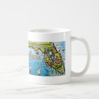 Florida Cartoon Map Classic White Coffee Mug