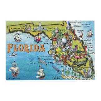 Florida Cartoon Map Laminated Placemat