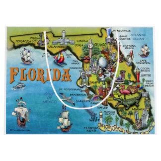 Florida Cartoon Map Large Gift Bag