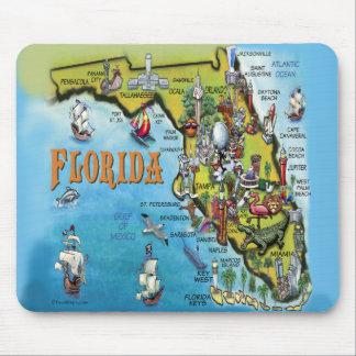 Florida Cartoon Map Mouse Pad