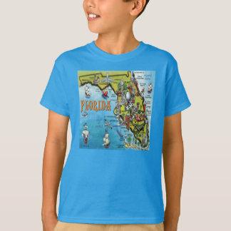 Florida Cartoon Map T-Shirt