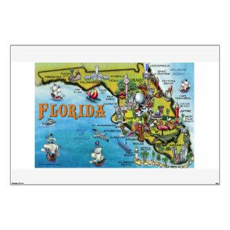 Florida Cartoon Map Wall Decal