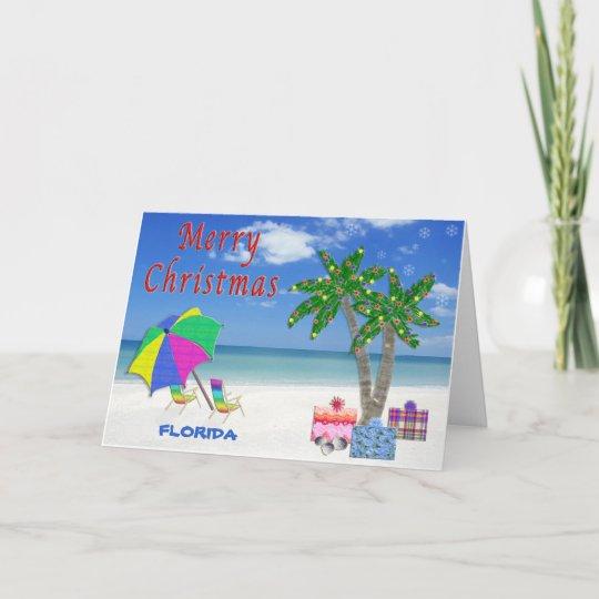 Florida Christmas Cards Beach Palm Trees Zazzlecom