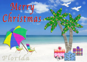 florida christmas cards beach themed - Beach Themed Christmas Cards