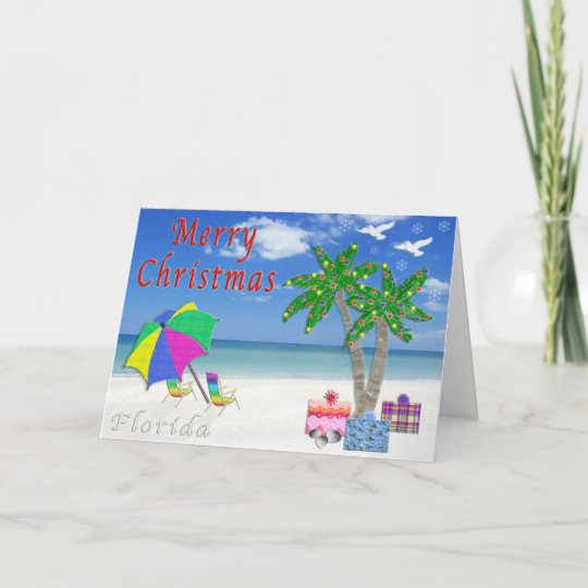 florida christmas cards beach themed - Beach Themed Christmas Cards