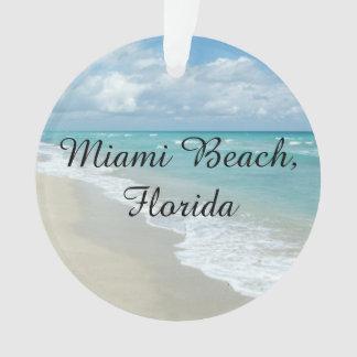 Florida Christmas Customizable Miami Beach Ocean Ornament