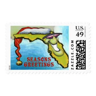 Florida Christmas Postage Stamp
