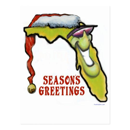 Florida Christmas Postcard