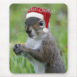 Florida Christmas Santa Squirrel™ Wearing Hat Mouse Pad