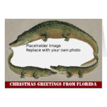 Florida Christmas Vintage Alligator Frame Card