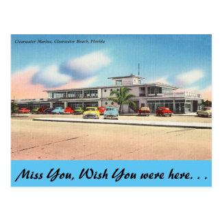 Florida, Clearwater Marina, Clearwater Beach Postcard