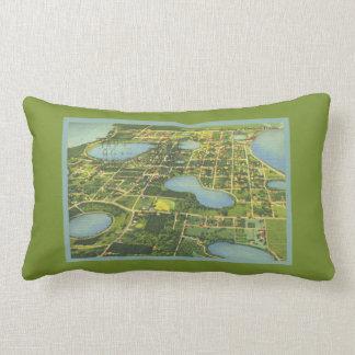Florida Clermont Map Everglades From Above Lumbar Pillow