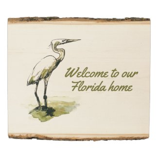Florida coastal wall decor welcome to our house