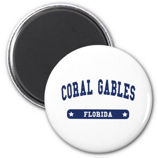 Florida College Style tee shirts 2 Inch Round Magnet